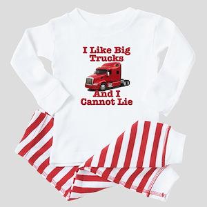 I Like Big Trucks Peterbilt Baby Pajamas