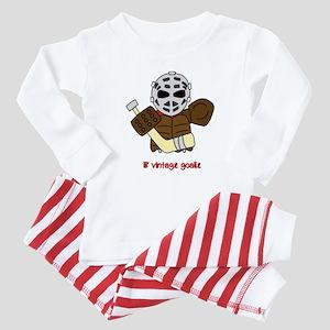 Lil Vintage Hockey Goalie Baby Pajamas