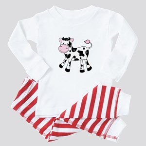 Black And White Dairy Cute Cow Baby Pajamas