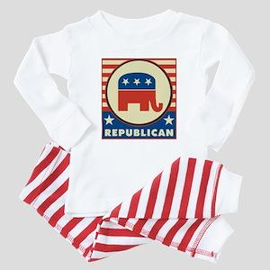 Retro Republican Baby Pajamas
