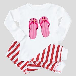 Pink Flip Flops Baby Pajamas