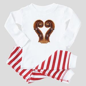 Violin Scroll Heart Baby Pajamas