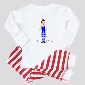 Dancer in training Highland dance Baby Pajamas