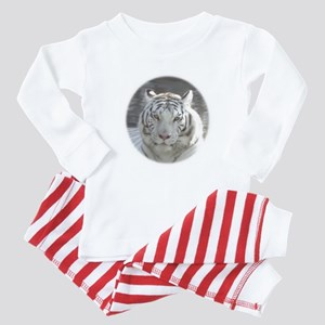 Royal White Tiger Baby Pajamas