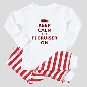 Keep Calm and FJ Cruiser On Baby Pajamas