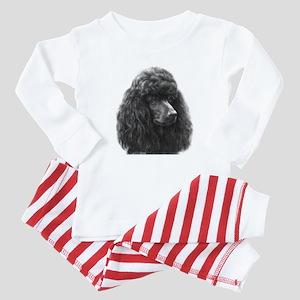 Black or Chocolate Poodle Baby Pajamas