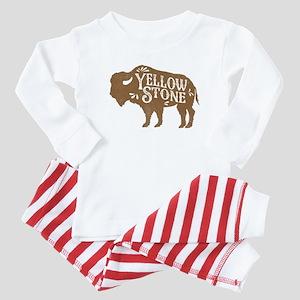 Yellowstone Buffalo Baby Pajamas