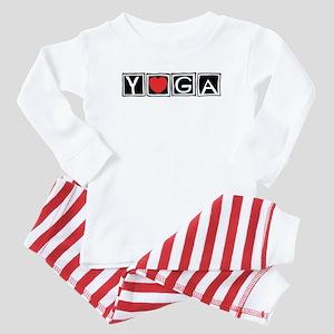Love Yoga Baby Pajamas