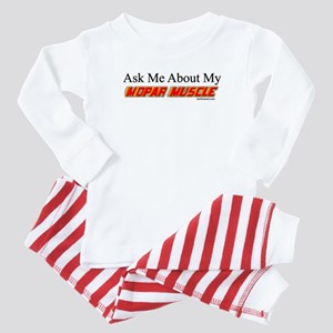 """""""Ask Me About My Mopar"""" Baby Pajamas"""