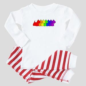 Rainbow Scottie Baby Pajamas