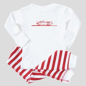 57 T Bird Top Down Baby Pajamas