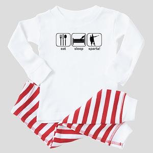Eat Sleep Sparta! Baby Pajamas