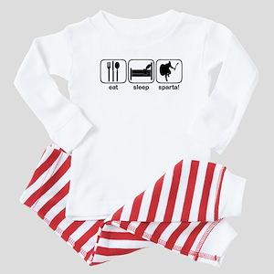 Eat Sleep Sparta! 2 Baby Pajamas
