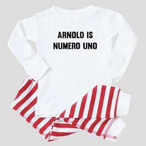 Arnold Is Numero Uno Baby Pajamas