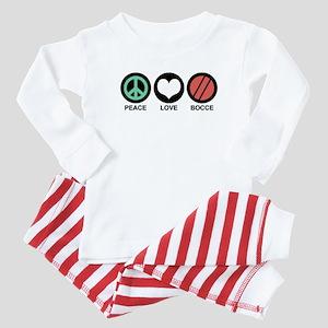 Peace Love Bocce Baby Pajamas