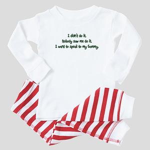 Want to Speak to Gammy Baby Pajamas