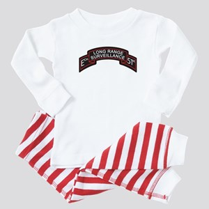 E Co 51st Infantry LRS Scroll Baby Pajamas