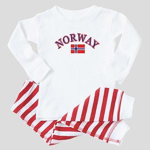 Norway Soccer Designs Baby Pajamas