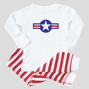 Air Force Star and Bars Baby Pajamas