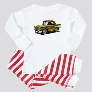 BabyAmericanMuscleCar_57BelR_Gold Baby Pajamas