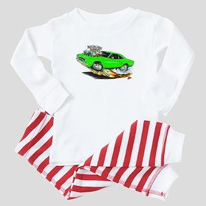 1970 Roadrunner Green Car Baby Pajamas