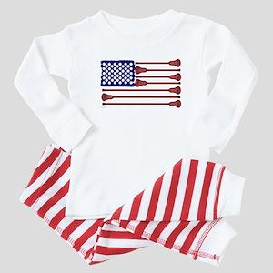 Lacrosse Americas Game Baby Pajamas