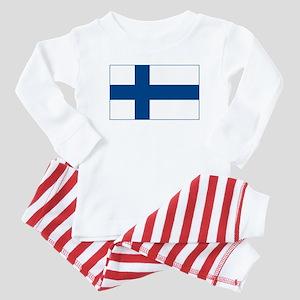Finland Flag Baby Pajamas