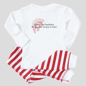 Dine in Hell! - 300 Helmet Baby Pajamas