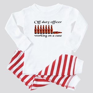 Off duty officer working on a Baby Pajamas