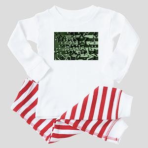 CAMOUFLAGED STARS & STRIPES Baby Pajamas