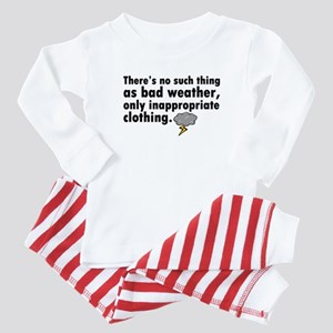 'Bad Weather' Baby Pajamas