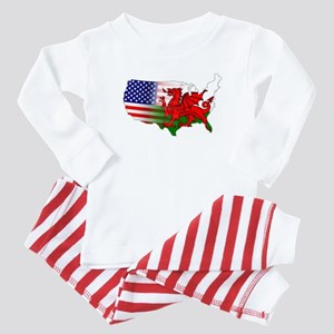 American Welsh Map Baby Pajamas