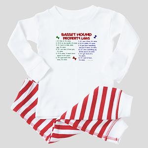 Basset Hound Property Laws 2 Baby Pajamas