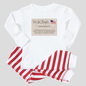Amendment II w/Flag Baby Pajamas