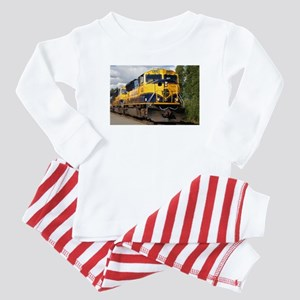 Alaska Railroad engine Baby Pajamas