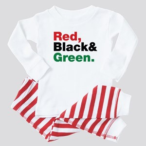Red, Black and Green. Baby Pajamas