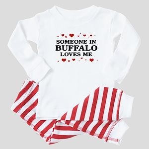 Loves Me in Buffalo Baby Pajamas