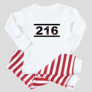 Straight Outta 216 Baby Pajamas