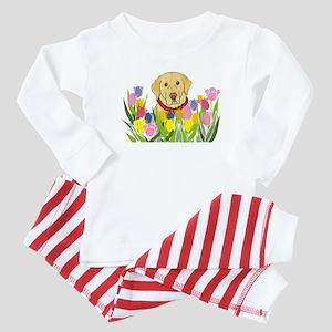 Yellow Lab Baby Pajamas