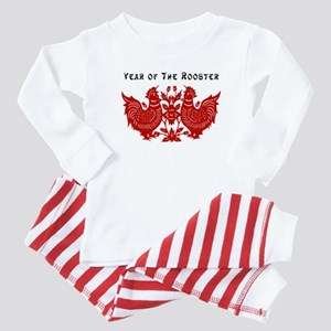 Year of The Rooster Baby Pajamas