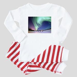 Northern Lights of Alaska Photograph Baby Pajamas