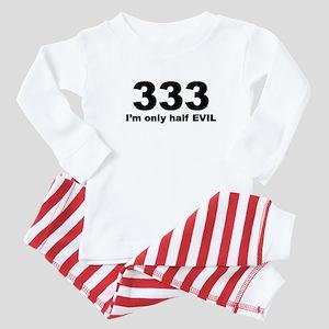 333-half evil Baby Pajamas