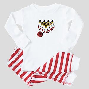 Tux - Linux Bowling Pins Baby Pajamas