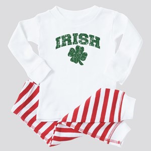 Worn Irish Shamrock Baby Pajamas