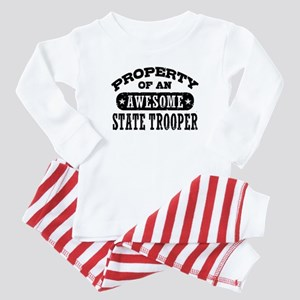 Property of an Awesome State Trooper Baby Pajamas