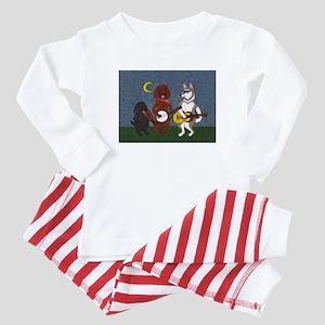Country Music Dogs Baby Pajamas