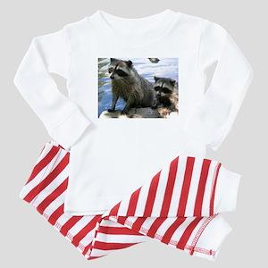 Racoon Buddies Baby Pajamas