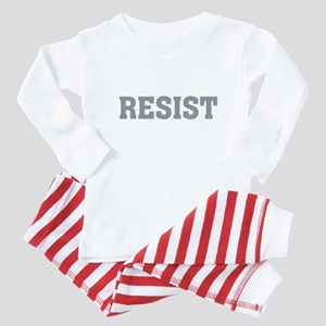 Resist Typography in Grey Baby Pajamas