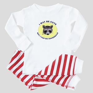 Cute But Dangerous Raccoon Baby Pajamas