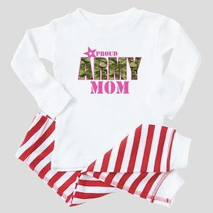 Camo Proud Army Mom Baby Pajamas Suit